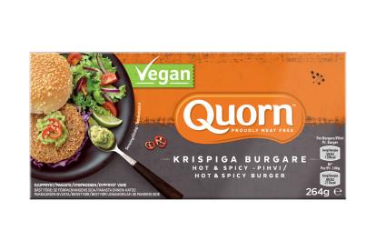 Quorn krispiga burgare hot & spicy