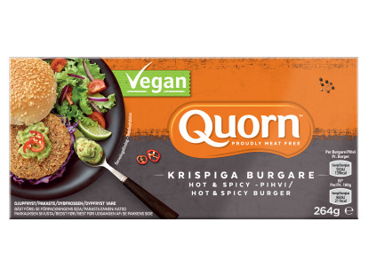 Quorn krispiga burgare hot & spicy