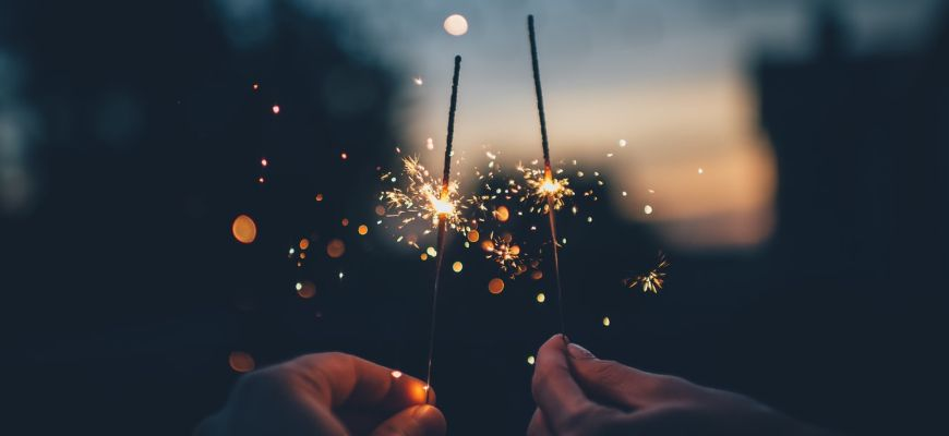 Sparklers to celebrate the new year.