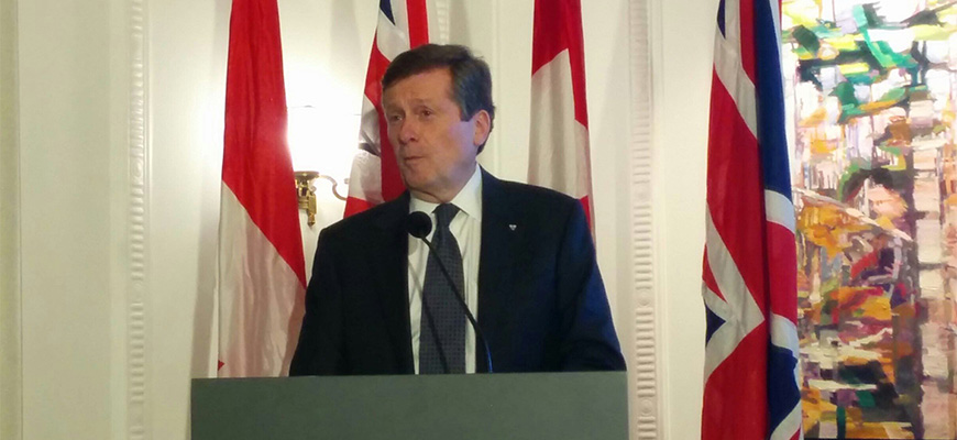 5 Questions with Toronto Mayor John Tory