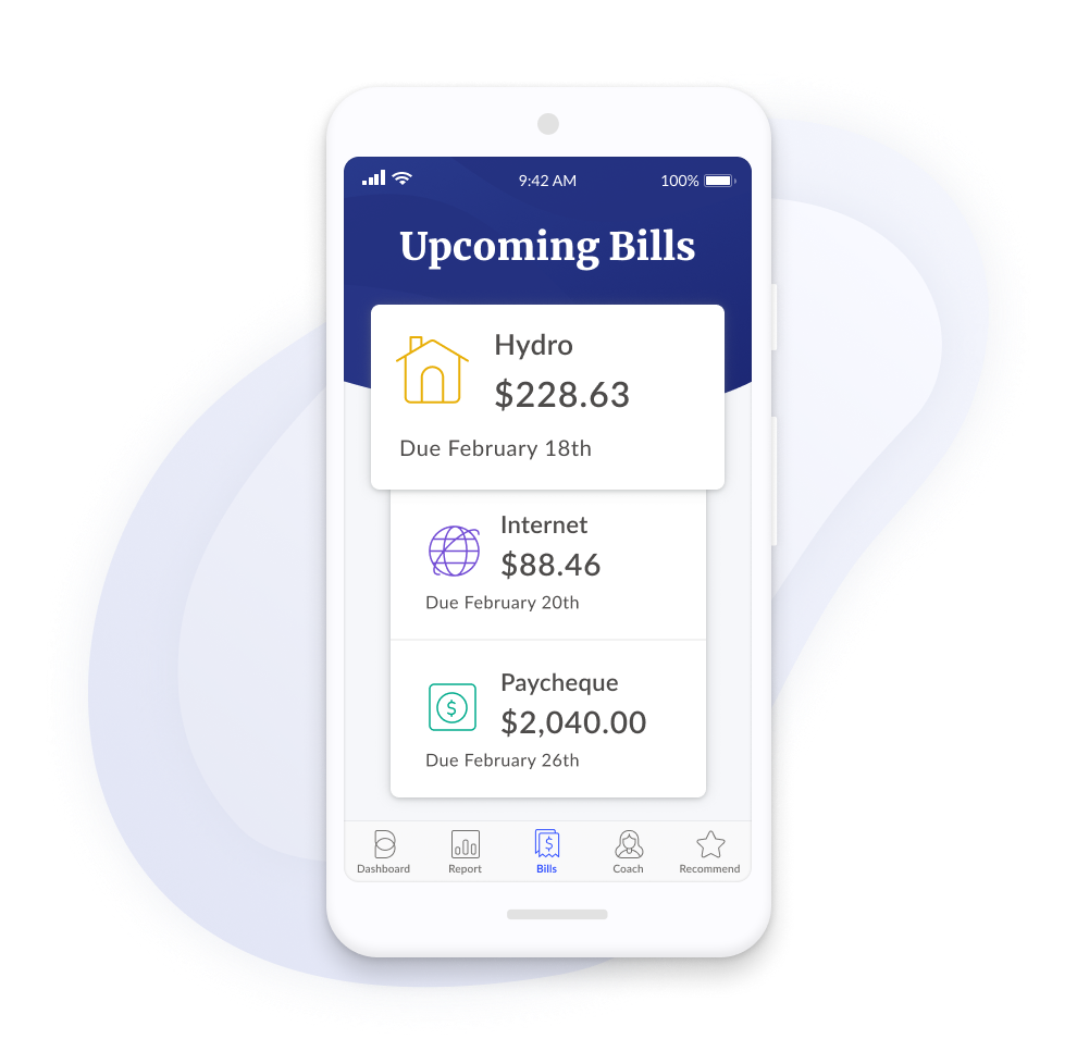 Review Your Upcoming Bills