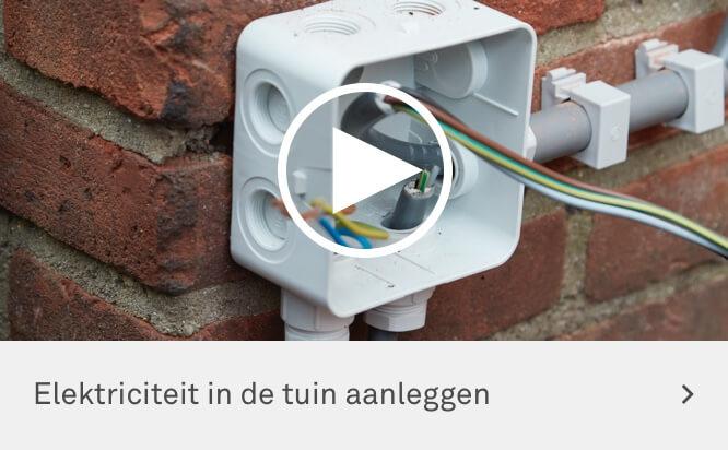 Elektra Aanleggen Tuin : Ga je elektriciteit in de tuin aanleggen bekijk de klusvideo