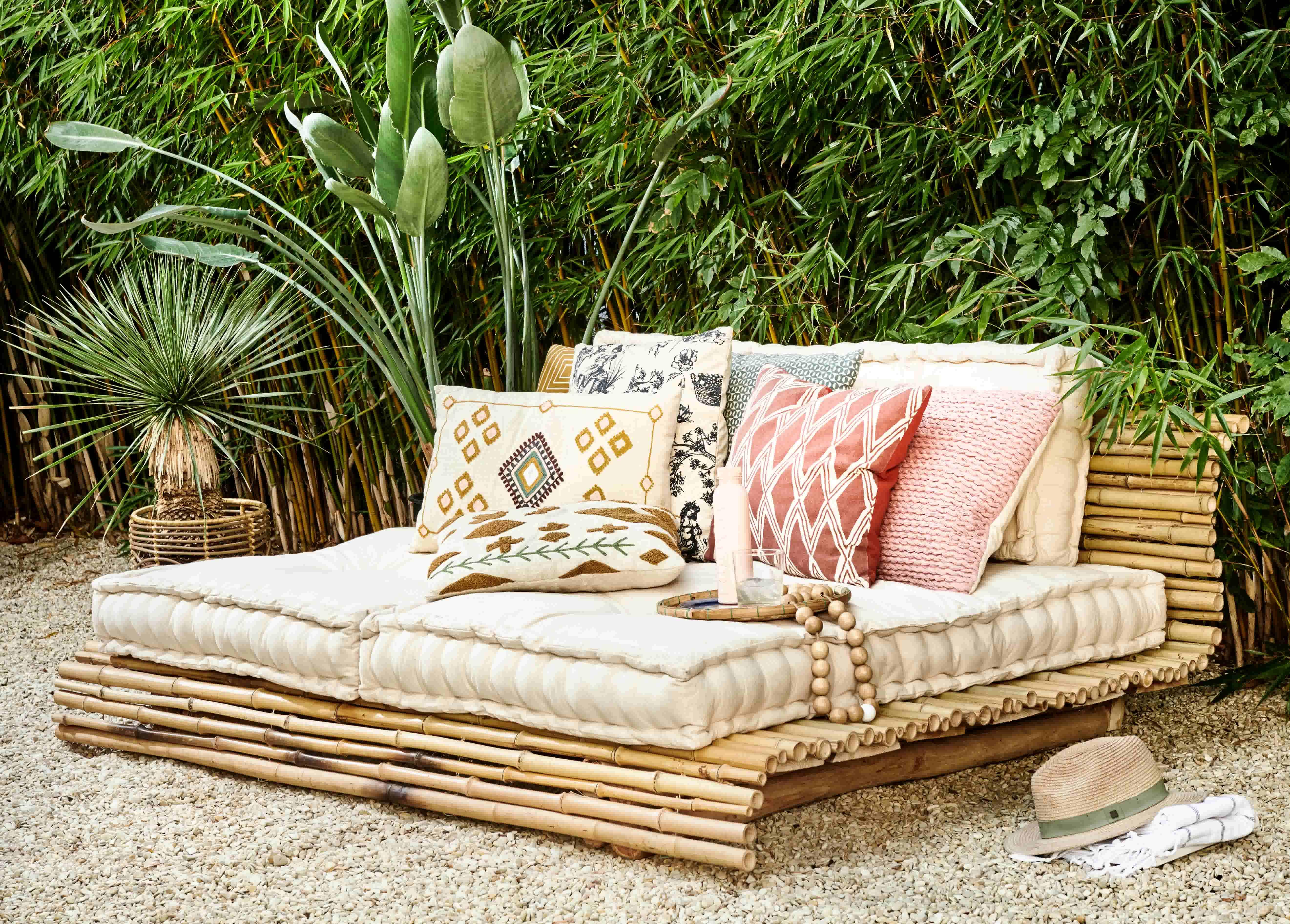 Maak je eigen bamboe lounge bed