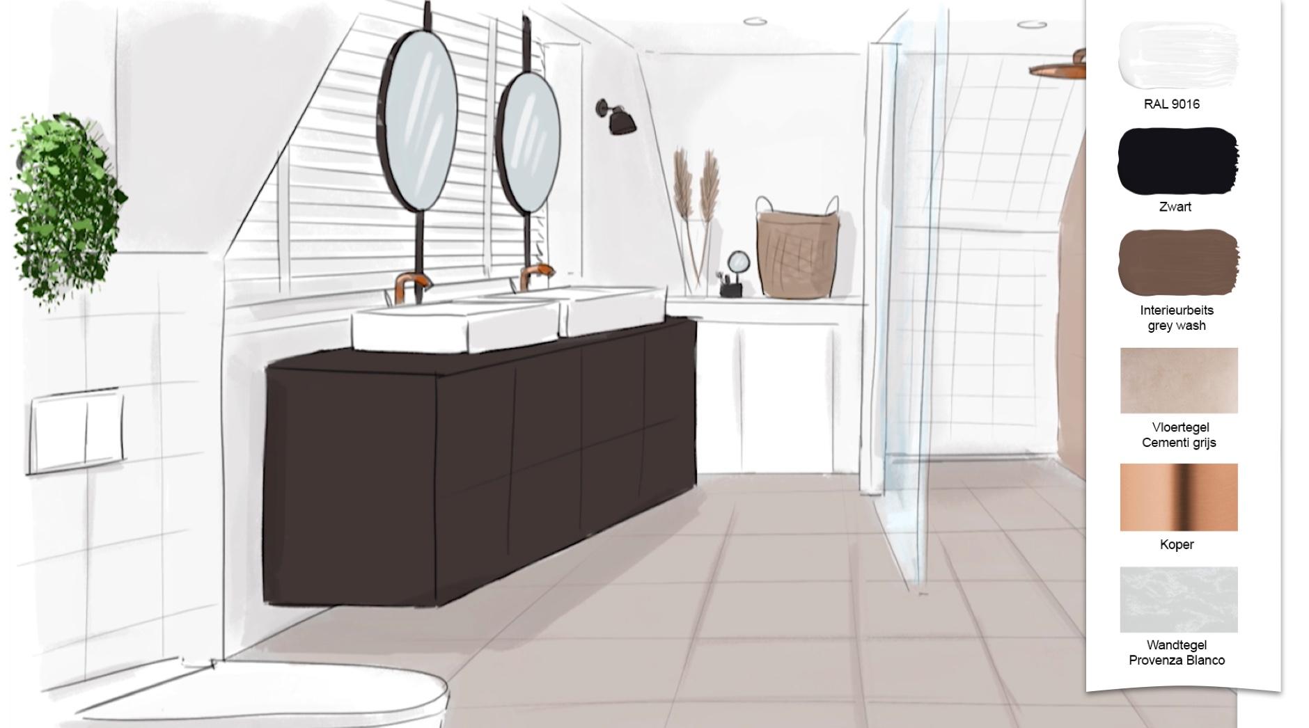Bekijk de make over uit eigen huis tuin van de badkamer in