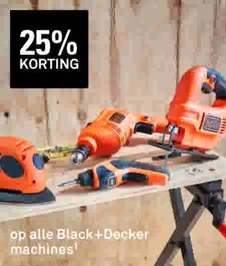 25% korting op alle Black+Decker machines