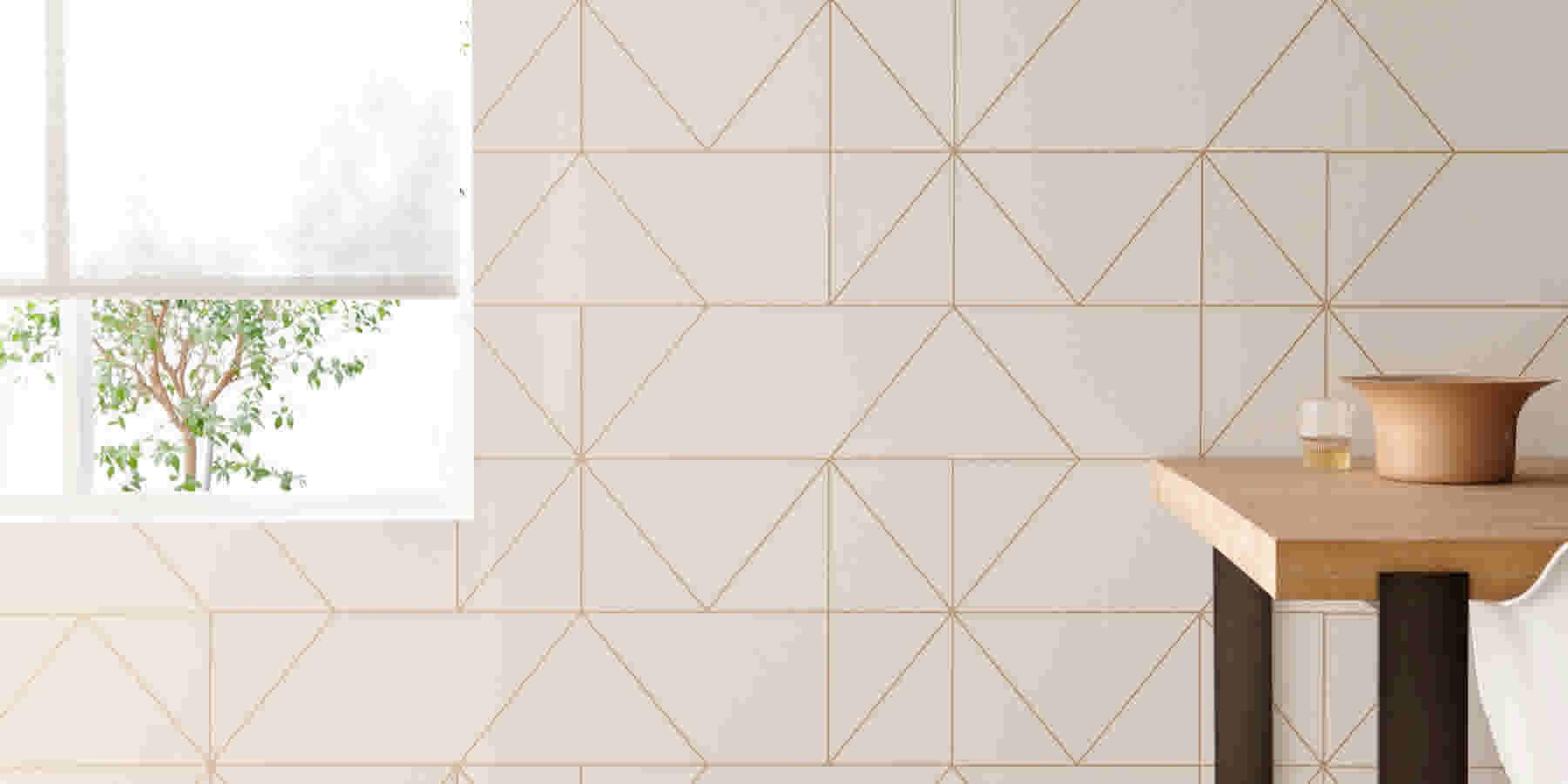 Hoe Behang Ik.Geometrisch Behang Op Je Muur Doen 6x Inspiratie