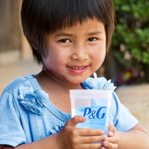 Child holding glass of water