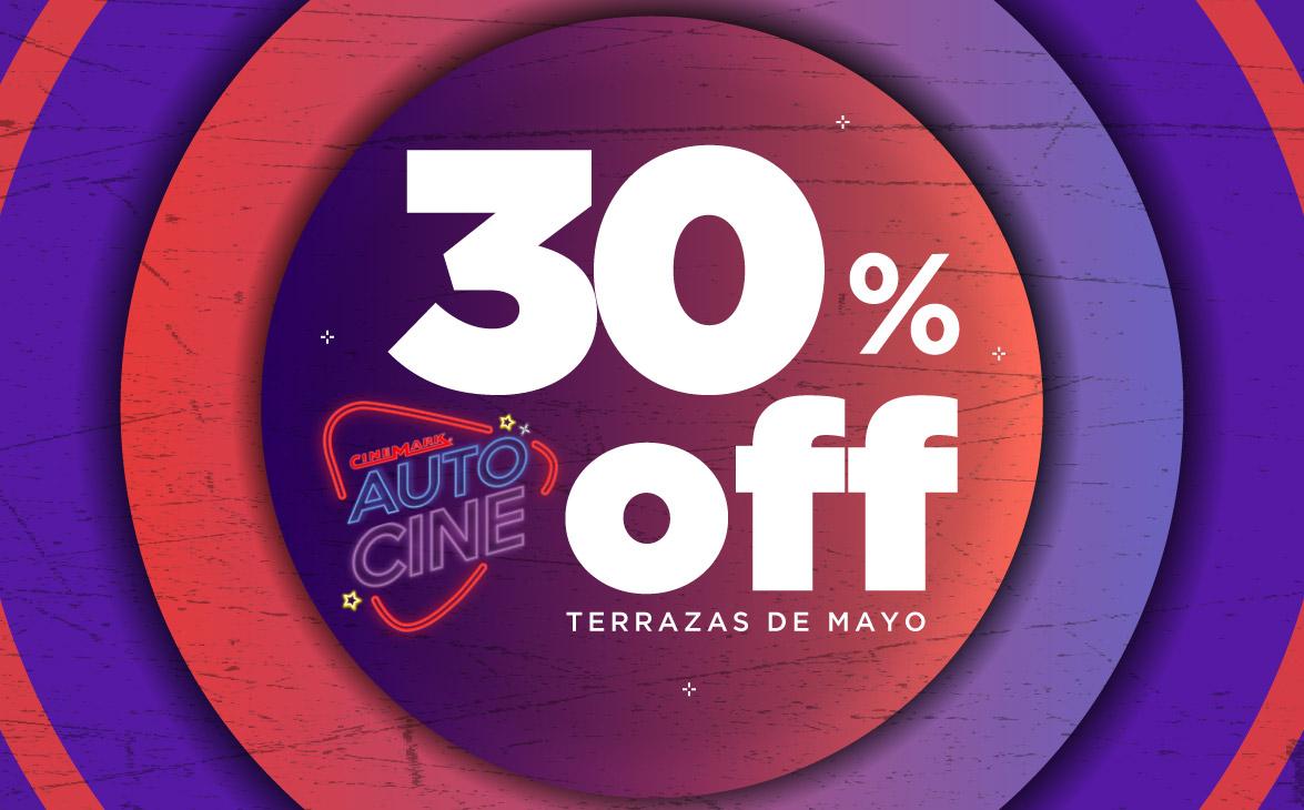 Promocion Cine 30 De Descuento En Entradas Para Autocine En Cinemark Terrazas De Mayo Claro Argentina