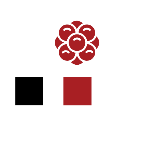 Black, Raspberry, and White Color Palette