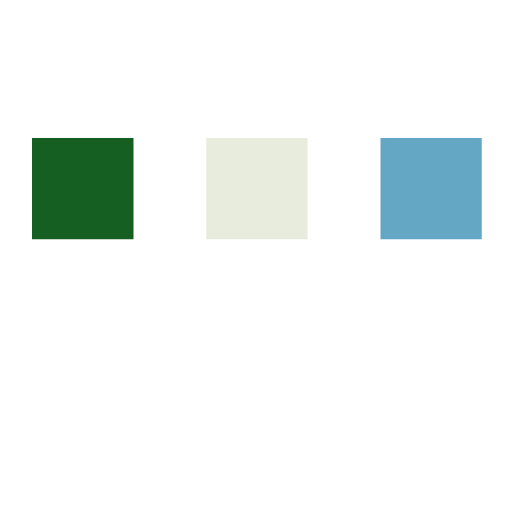 Green, Sand, and Blue color palette example