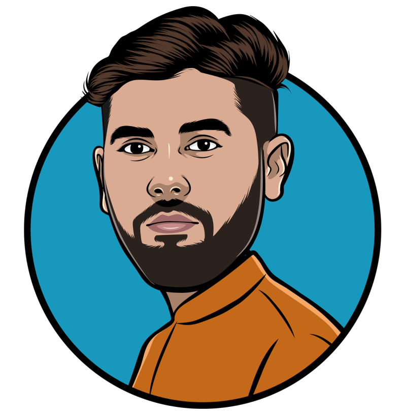 Animated Yousuf cartoon graphic