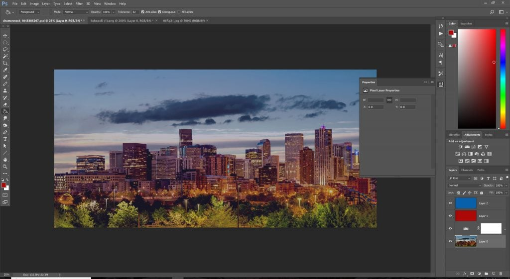 Screenshot of all layers visible in Photoshop