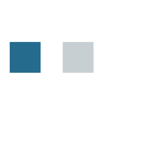 Blue, Silver, and White Color Palette Example