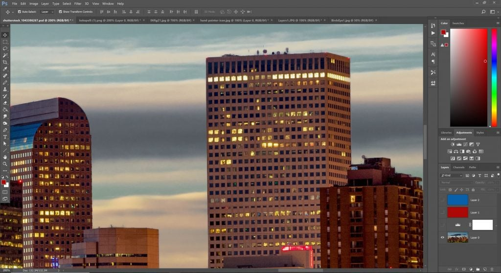 A screenshot of a zoomed in portion of an image in Photoshop.