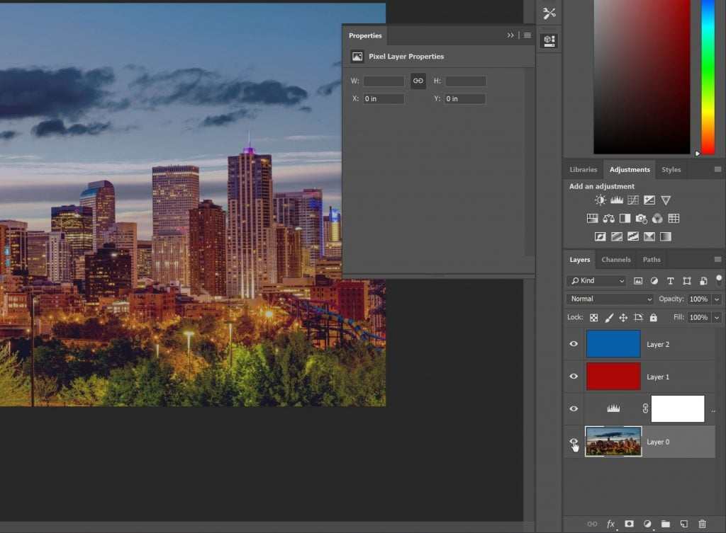 Screenshot of all layers visible again in Photoshop