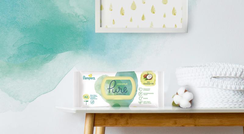 Dětské čisticí ubrousky Pampers® Coconut Pure™