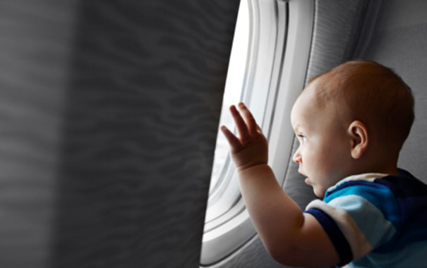 your baby-s first plane trip