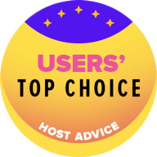 Host Advice award Badge Users Top Choice