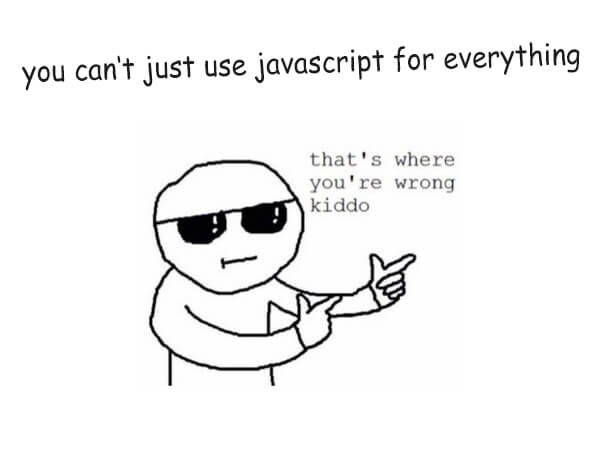 JavaScript cartoon