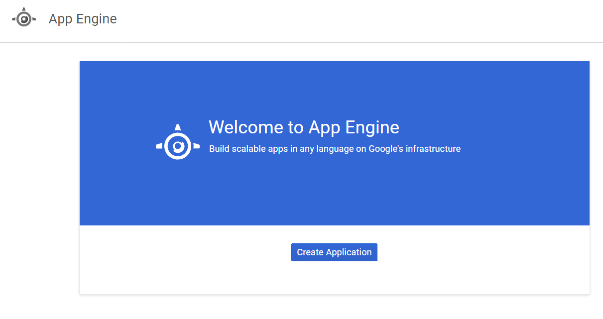Google App Engine - Create application