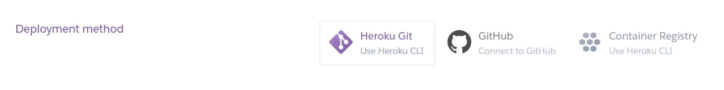Heroku - Deployment methods