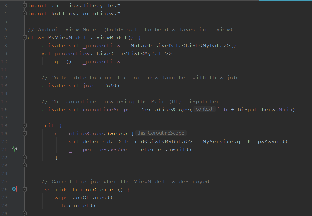 CoroutineScope with plus operator
