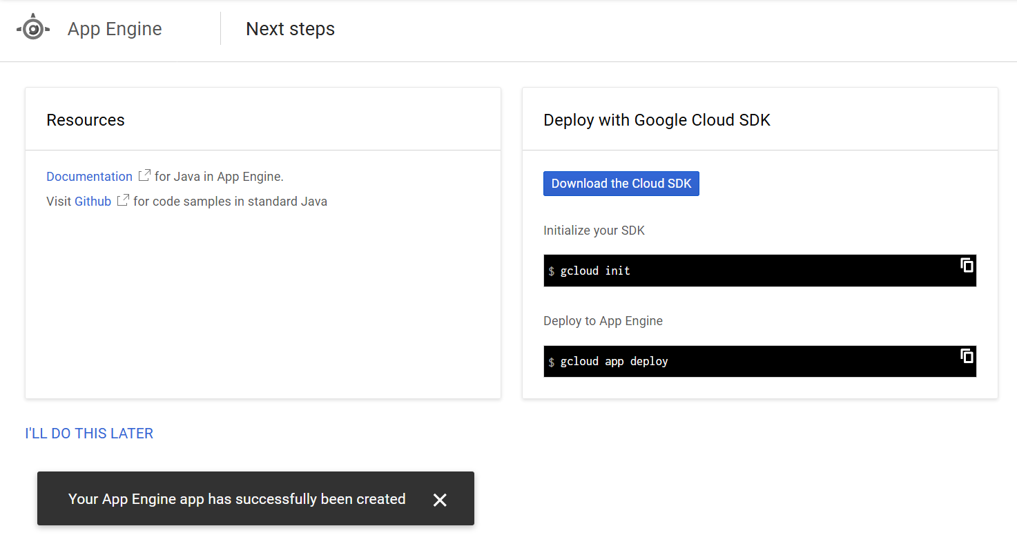 Google App Engine - Resources and Google Cloud SDK