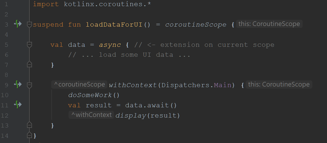 coroutineScope + withContext