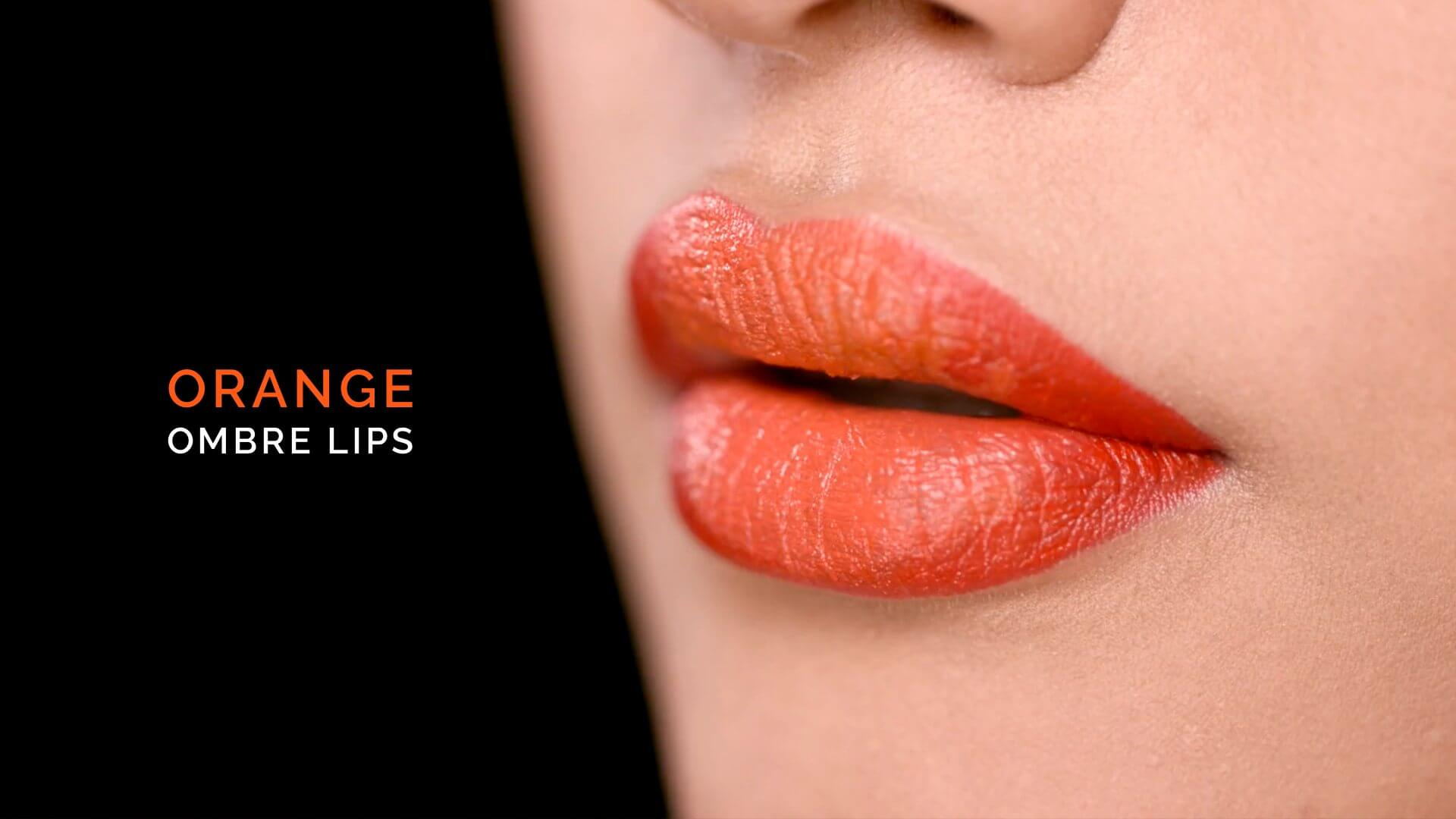 Orange Ombre Lip