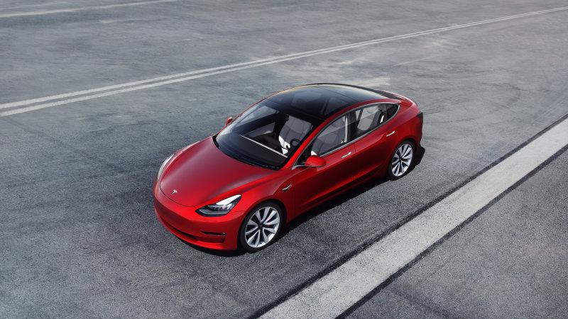 Charging a Tesla Model 3