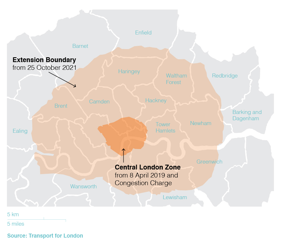 Efforts to improve air quality in the UK's capital