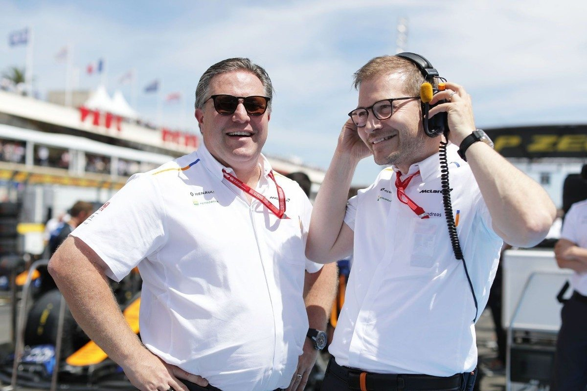 Zak Brown and Andreas Seidl