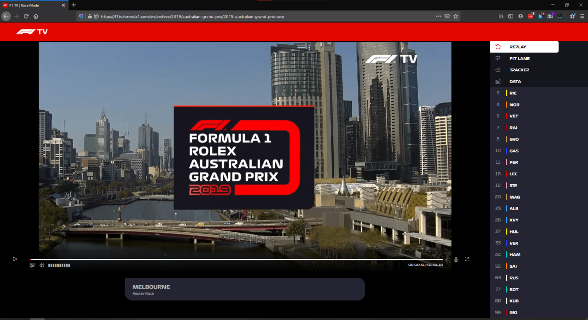 Evening Hack: Adding Playback Controls to F1 TV