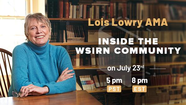 Upcoming AMA : Award-Winning Author Lois Lowry