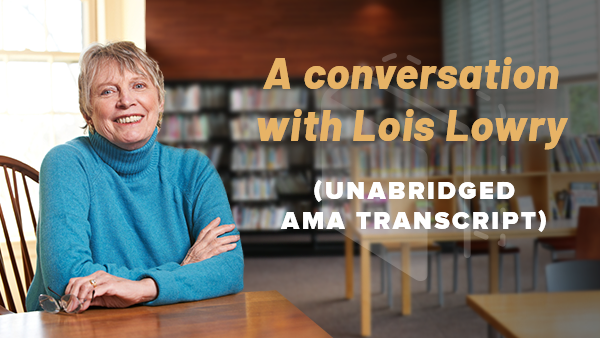 A conversation with Lois Lowry