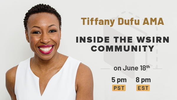 Tiffany Dufu is joining us for an AMA in June!