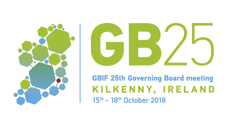 Logo for the GBIF 25th Governing Board Meeting