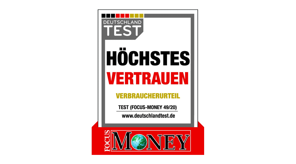 Focus Money Siegel Kundenvertrauen