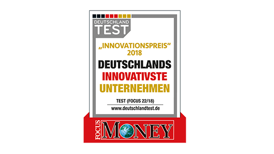 Focus Money Innovationspreis 2018: Deutschlands Innovativste Unternehmen