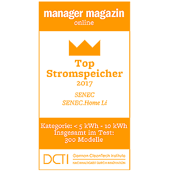 Siegel Manager Magazin Top Stromspeicher 2017