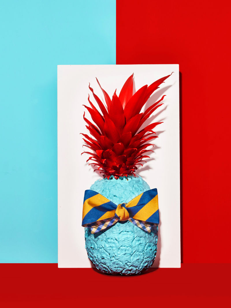 Pineapple with bowtie