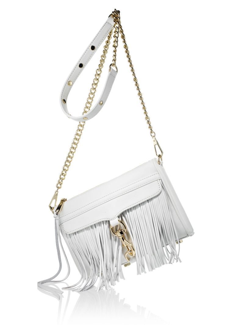 White purse with fringe
