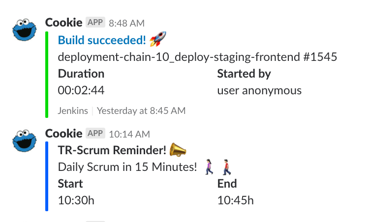 Cookie-Reminder in Slack
