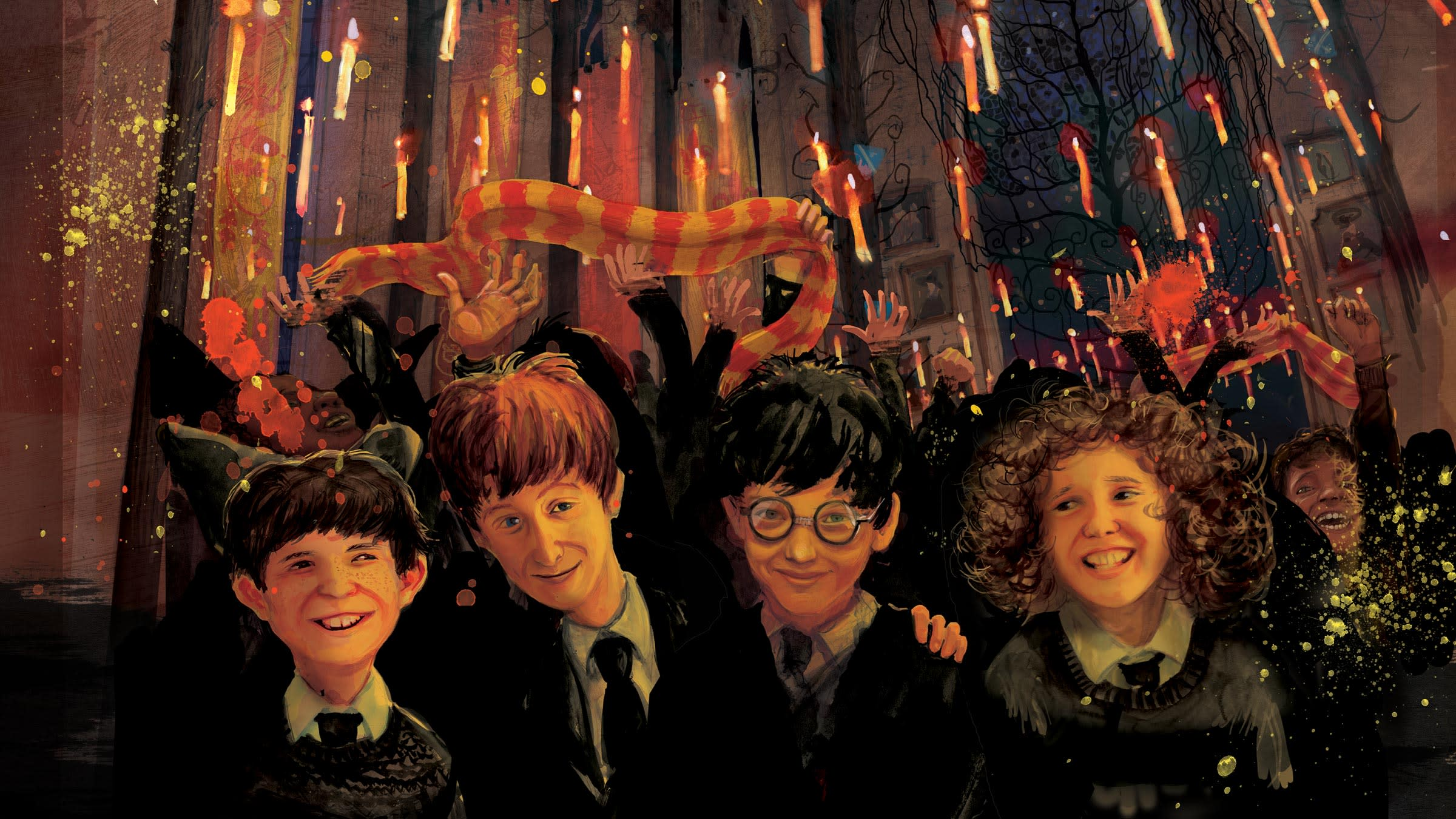illustration-harry-ron-hermione-great-hall-feast-candles-image