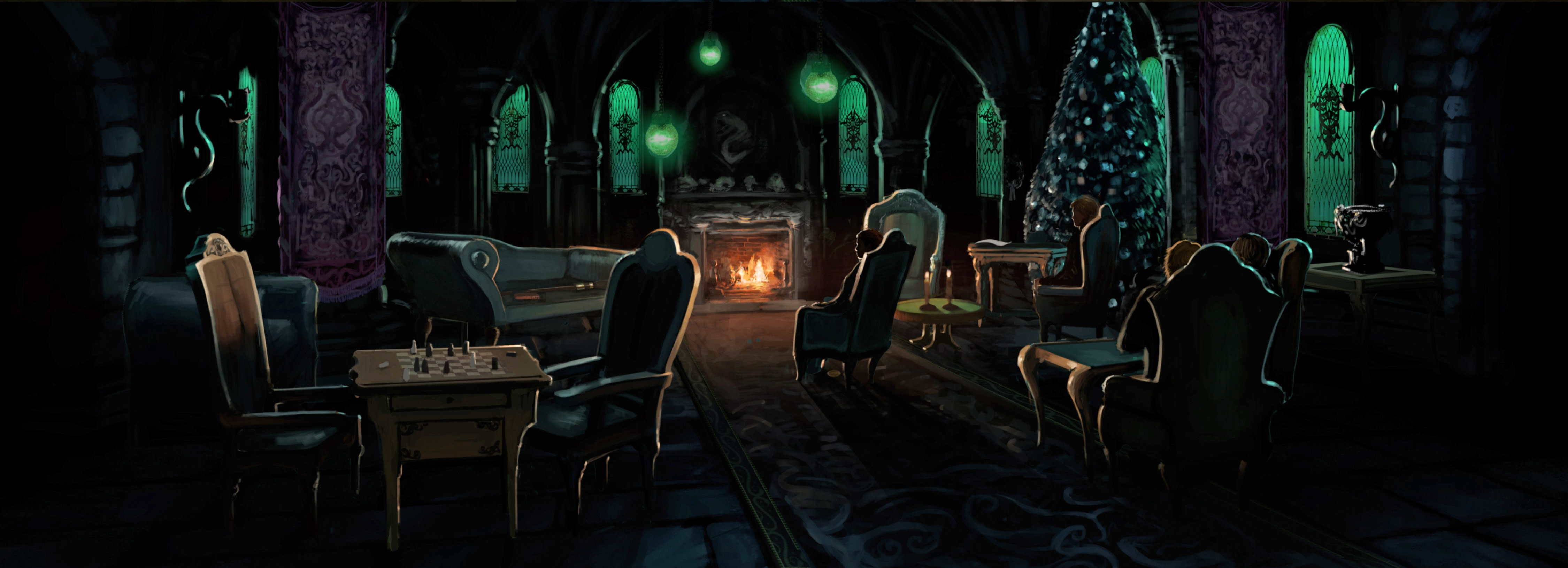 SlytherinCommonRoom PM B2C12M3 SlytherinCommonRoomWithDracoMalfoy Moment