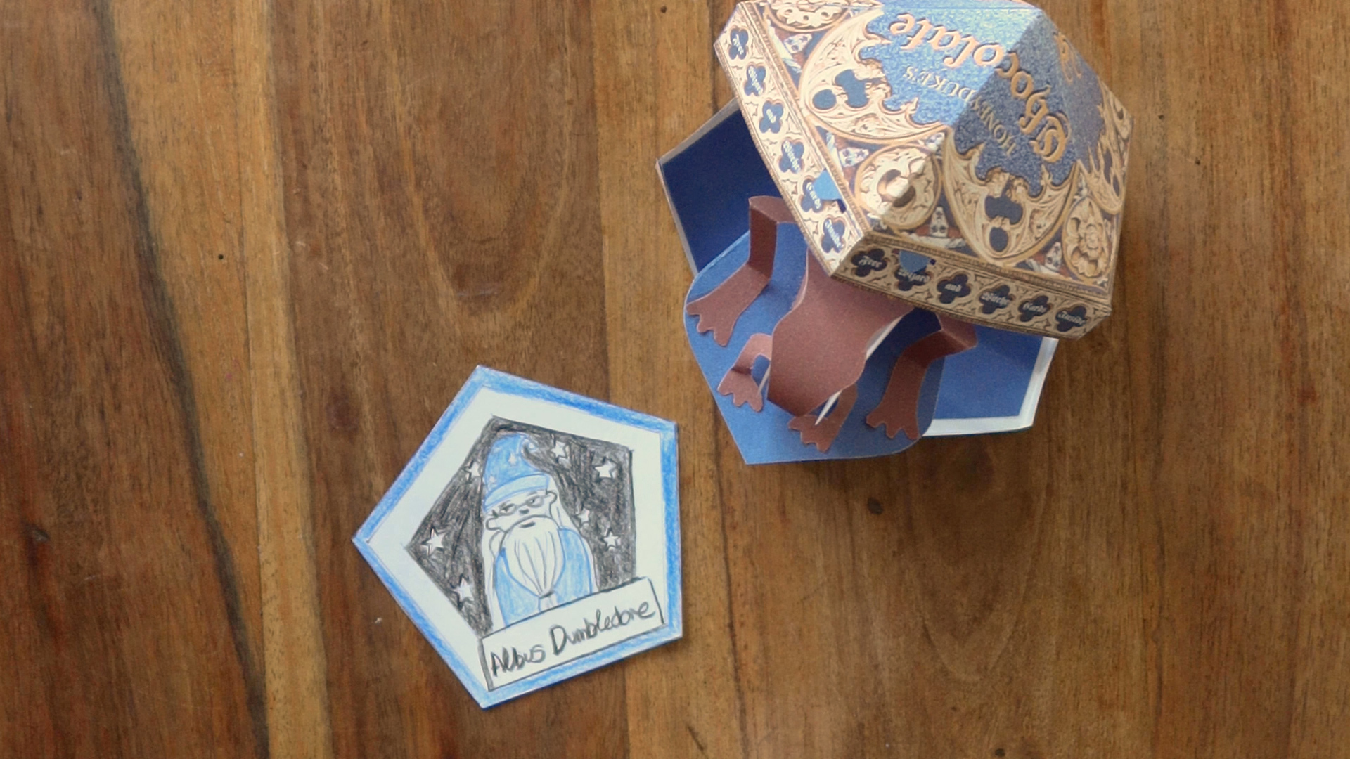 Learn how to make your own Popping Chocolate Frog  Wizarding World Intended For Chocolate Frog Card Template