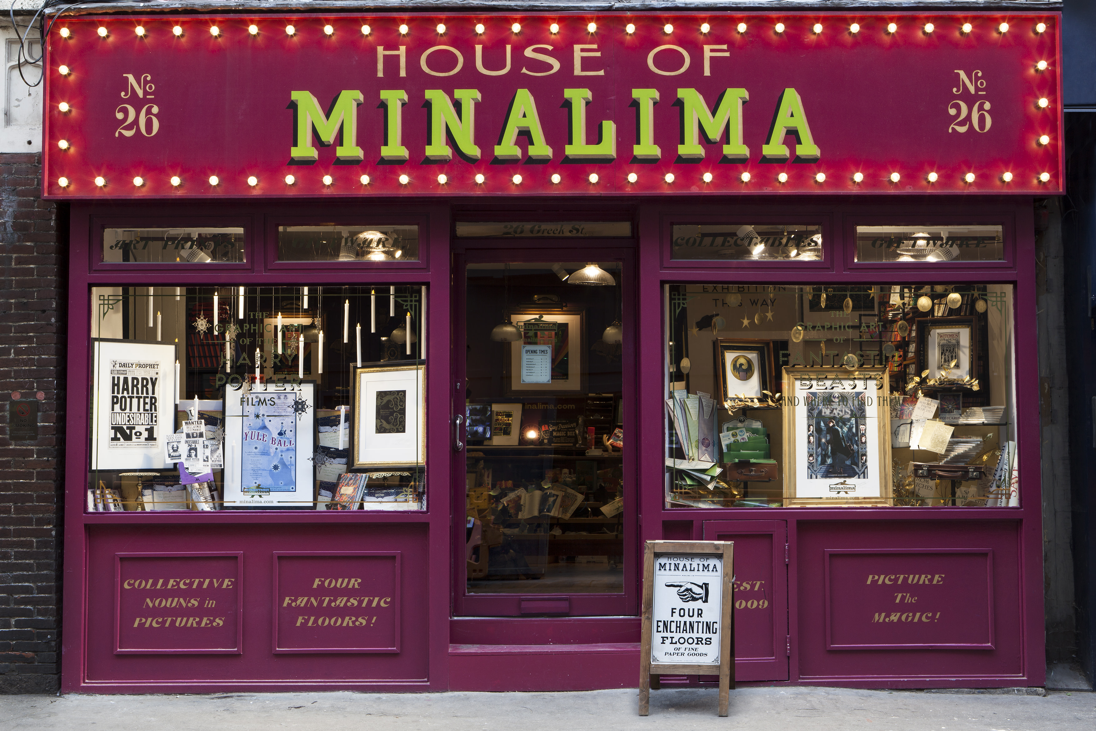 ML House of MinaLima exterior shop front photography