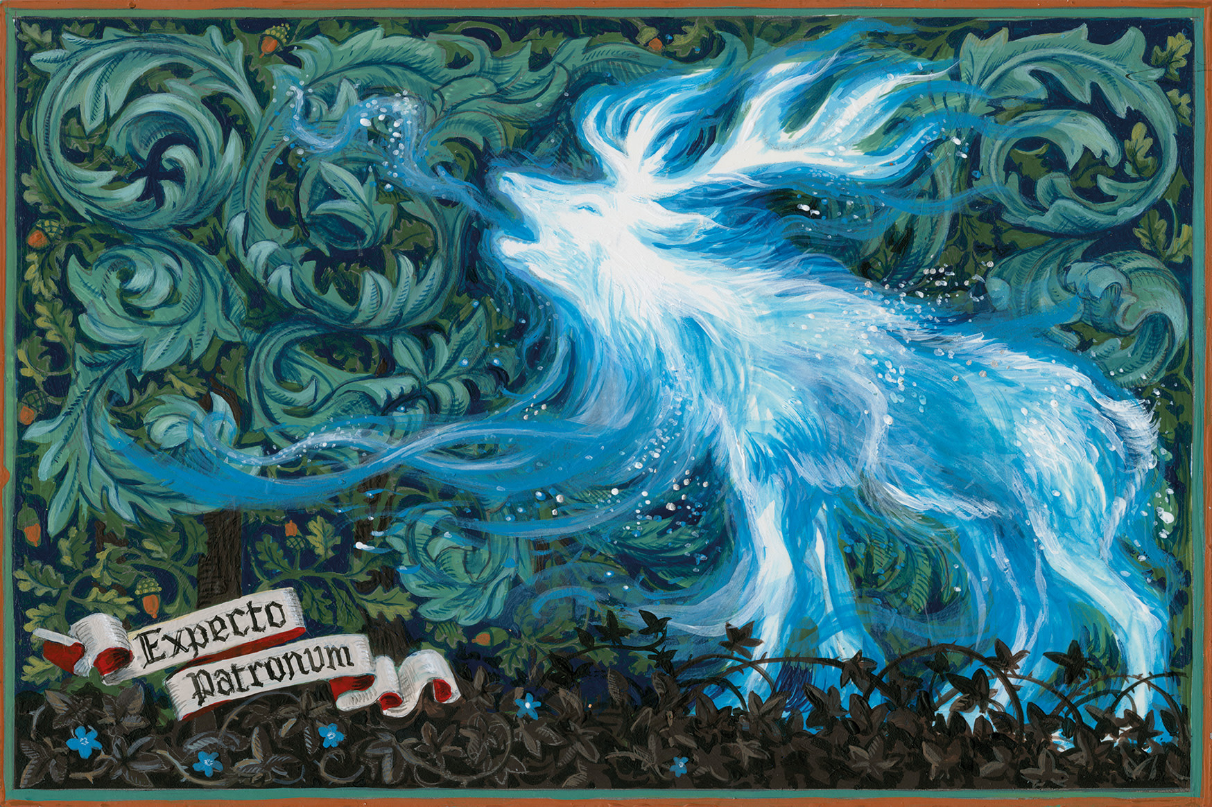Bloomsbury Patronus on a Postcard  Stag - Jim Kay