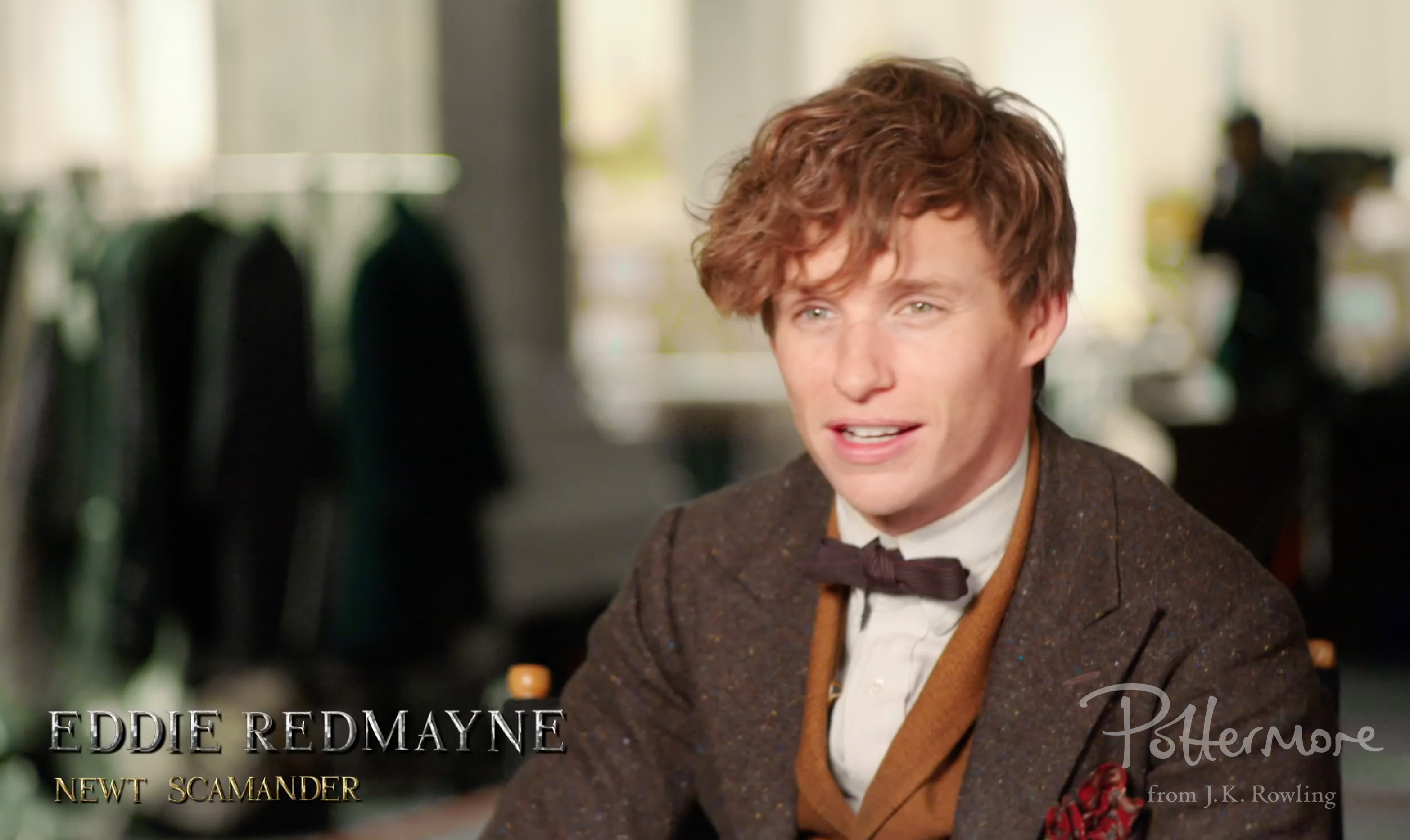 Eddie Redmayne Celebration video interview shot