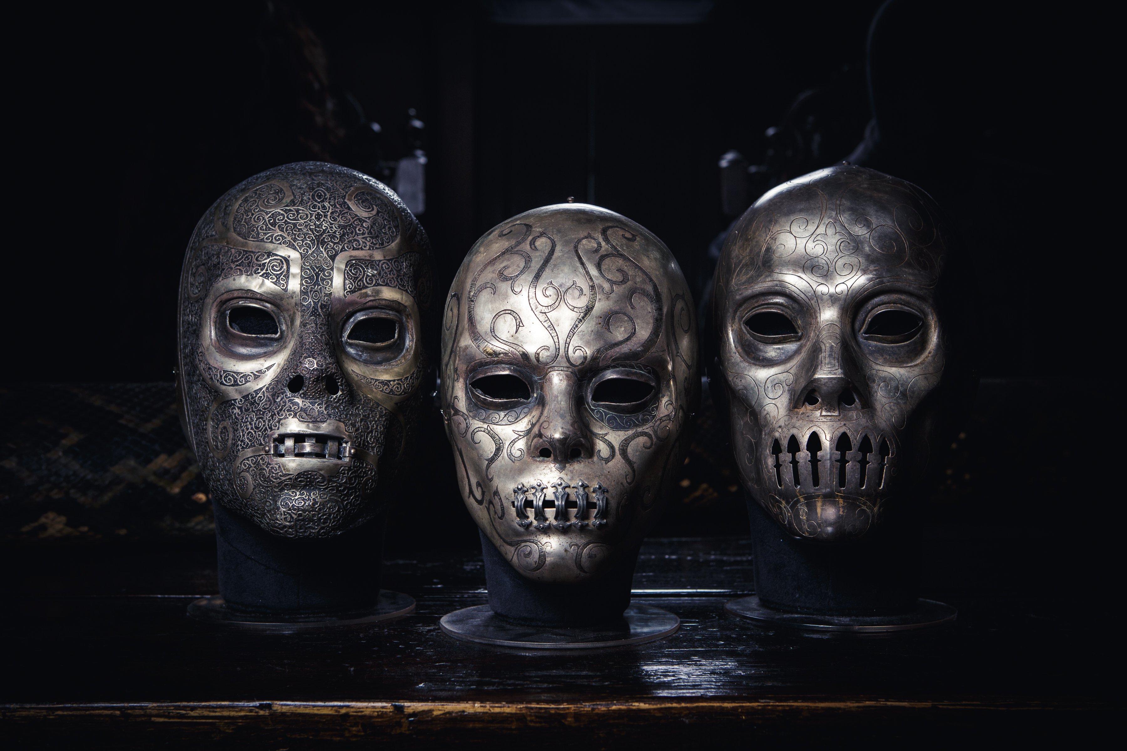 Death Eater Masks - Warner Bros Studio Tour London